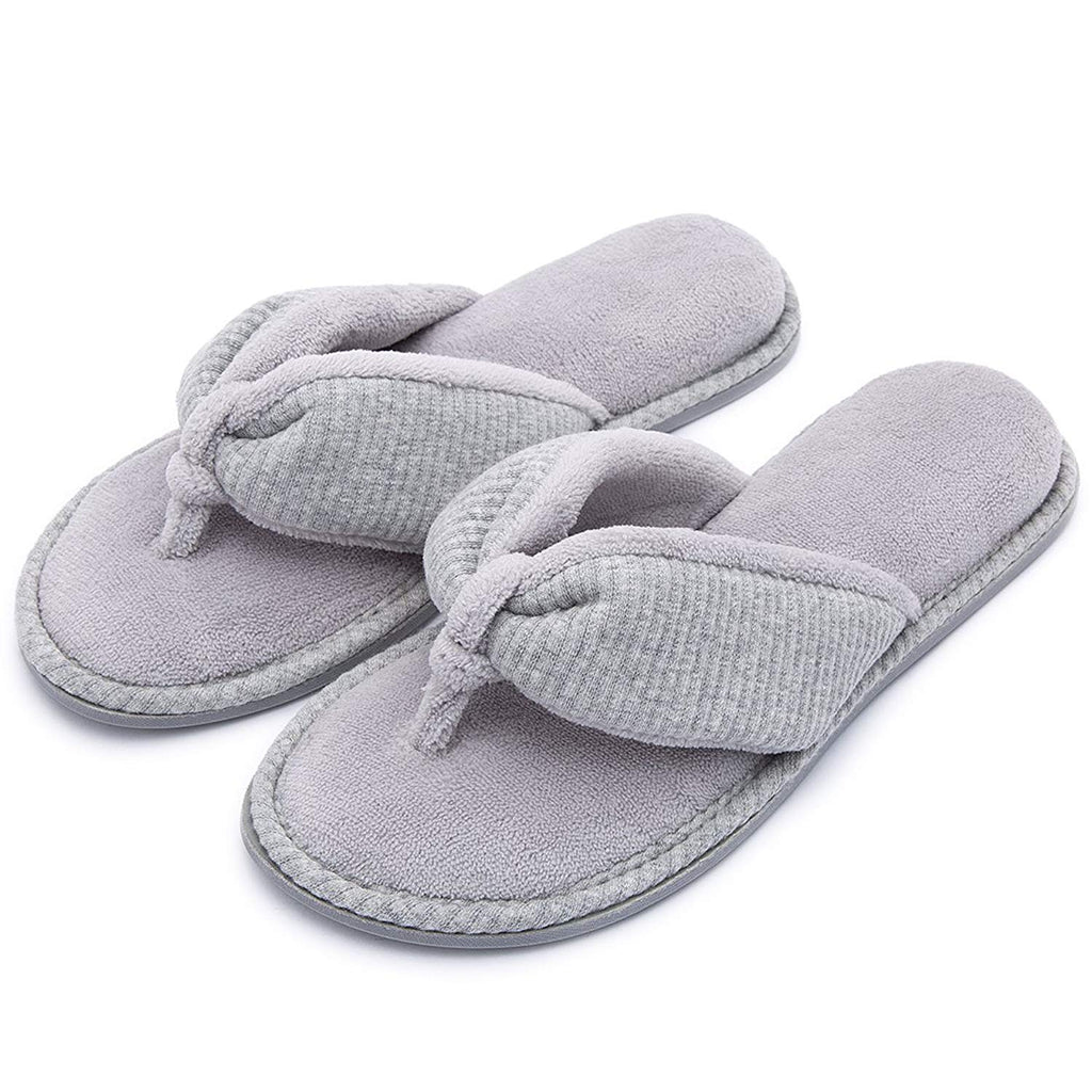 RockDove Ladies' Memory Foam Flip Flop Slippers - House Spa Indoor Thong Sandals