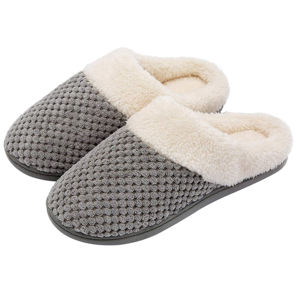 Women's Comfort Slippers Plush Slip-on Clog House Shoes for Indoor Outdoor