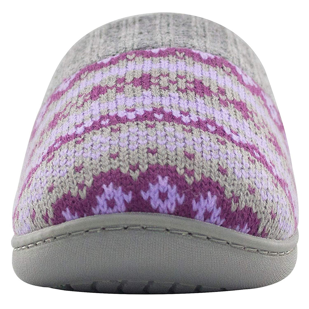 RockDove Women's Memory Foam Comfort House Slippers with Ribbed Knit Collar