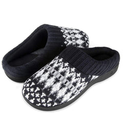 Zigzagger Women's Christmas House Shoes Knit Slippers