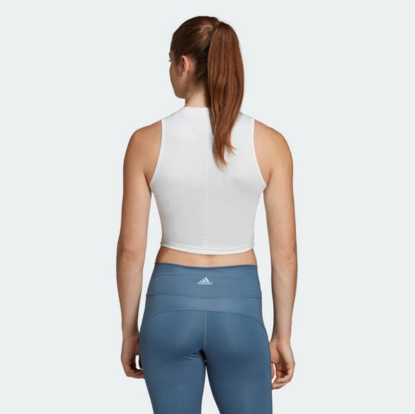 Adidas Crop Tank Top White DX7554 Sportstar Pro Newcastle, 2300 NSW. Australia. 3