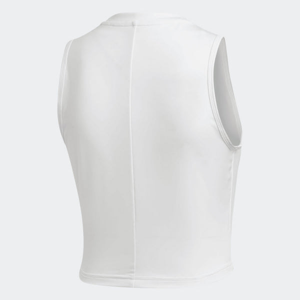 Adidas Crop Tank Top White DX7554