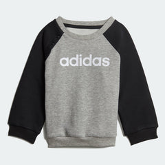 Adidas Infant Linear Fleece Jogger Set Medium Grey Heather  Black  White DV1266 - UNISEX KIDS TRAINING Sportstar Pro Newcastle, 2300 NSW. Australia. 2