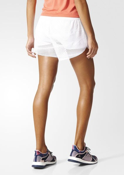 Adidas 2IN1 Mesh Shorts White BK7972 - WOMEN'S TRAINING. Sportstar Pro Newcastle, 2300 NSW. Australia.