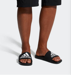 Adidas Adilette Cloudfoam Plus Logo Slides Black CG3425