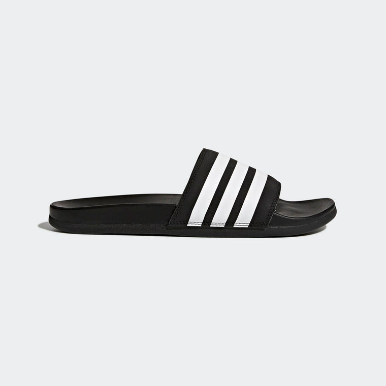 Adidas Adilette Cloudfoam Plus Stripes Men's Slides Black/White AP9971