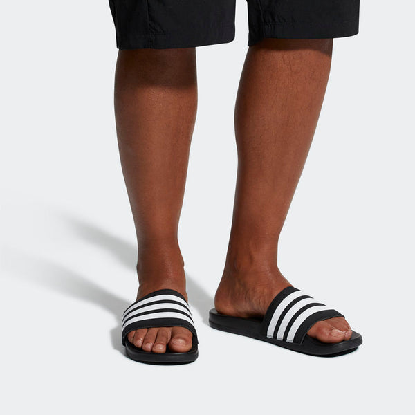 Adidas Adilette Cloudfoam Plus Stripes Men's Slides Black White AP9971 Sportstar Pro Newcastle, 2300 NSW. Australia. 2