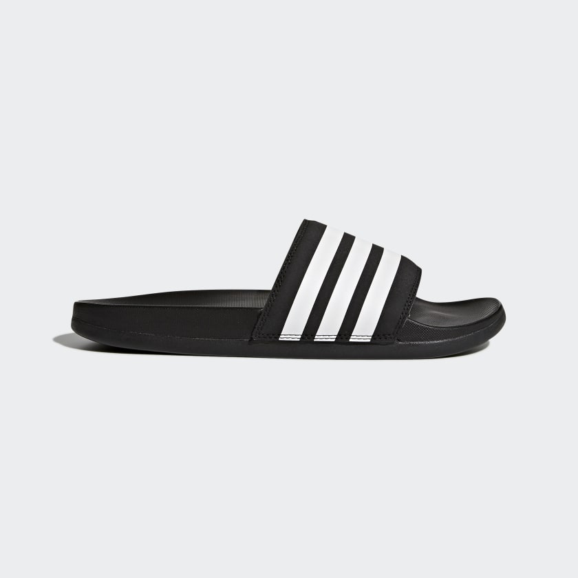 Adidas Adilette Cloudfoam Plus Stripes Women's Slides Black White AP9966 Sportstar Pro Newcastle, 2300 NSW. Australia. 1
