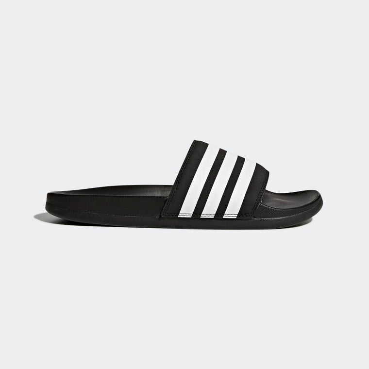 Adidas Adilette Cloudfoam Plus Stripes Women's Slides Black/White AP9966