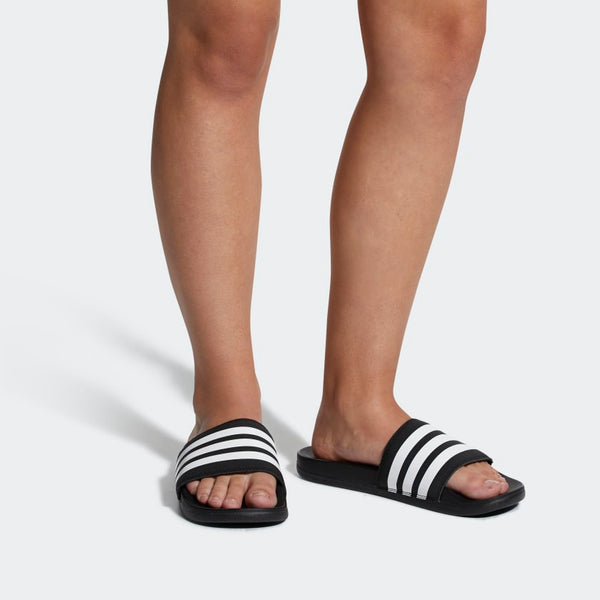Adidas Adilette Cloudfoam Plus Stripes Women's Slides Black White AP9966 Sportstar Pro Newcastle, 2300 NSW. Australia. 2
