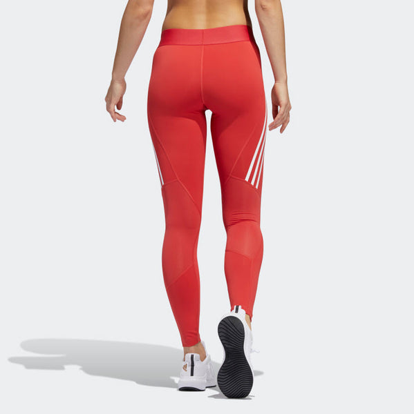 Adidas Alphaskin 3-Stripe Long Tights Glory Red FL2052 Sportstar Pro Newcastle, 2300 NSW. Australia. 4