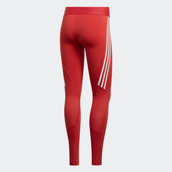 Adidas Alphaskin 3-Stripe Long Tights Glory Red FL2052 Sportstar Pro Newcastle, 2300 NSW. Australia. 7
