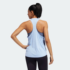 Adidas Badge of Sport Tank Top Glow Blue EB4539 Sportstar Pro Newcastle, 2300 NSW. Australia. 3