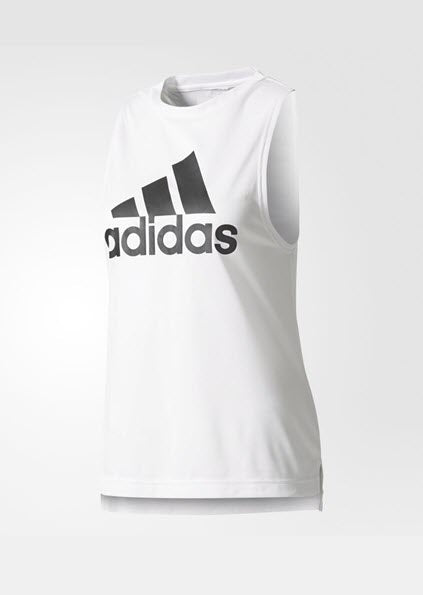 Adidas Boxy Logo Tank Top White BR0384 - WOMEN'S TRAINING. Sportstar Pro Newcastle, 2300 NSW. Australia.