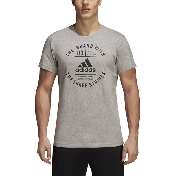 Adidas Emblem Tee Medium Grey Heather DI0286 Sportstar Pro Newcastle, 2300 NSW Australia. 1