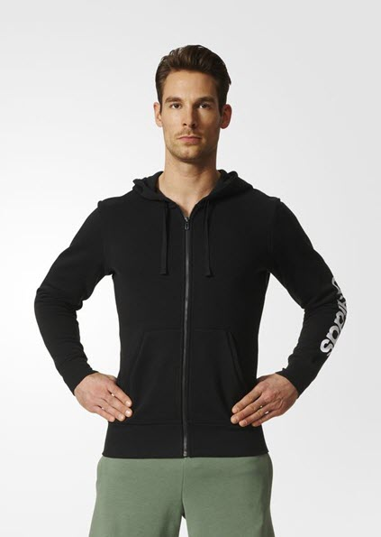 Adidas Essentials Linear Hoodie Black S98796