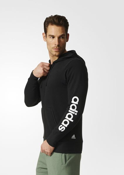césped Meandro collar  Adidas Essentials Linear Hoodie Black S98796 – Sportstar Pro