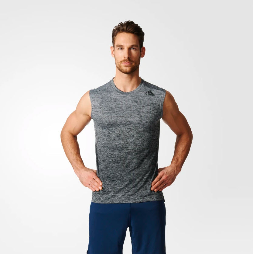 Adidas Gradient Sleeveless Tee Grey BK1360 Sportstar Pro Newcastle, 2300 NSW. Australia. 1