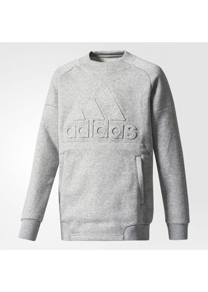 Adidas ID Tech Youth Boys Sweater - Medium Grey Heather CF2345