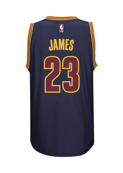 detailed look 00785 7d1e4 Adidas INT Swingman NBA Cleveland Cavaliers CAVS Jersey JAMES #23 AL5031  Navy