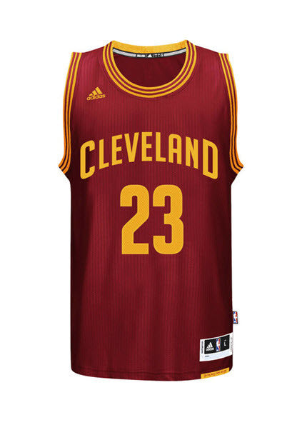 Adidas INT Swingman NBA Cleveland Cavaliers Jersey JAMES #23 A61199 Wine