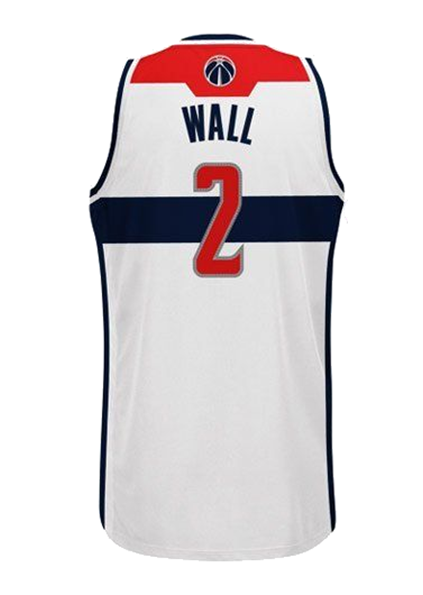 finest selection 33d90 7e76b Adidas INT Swingman NBA Washington Wizards Jersey John WALL White #2 L71773