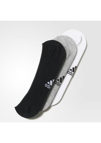 Adidas Invisible Thin Socks 3 Pairs AA2303 - TRAINING White/Medium Grey Heather/Black. Sportstar Pro. 519 Hunter Street, Newcastle, 2300 NSW. Australia.