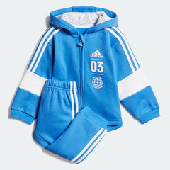 Adidas Kids Fleece Jogger Set Blue DV1276 Sportstar Pro Newcastle, 2300 NSW. Australia. 1