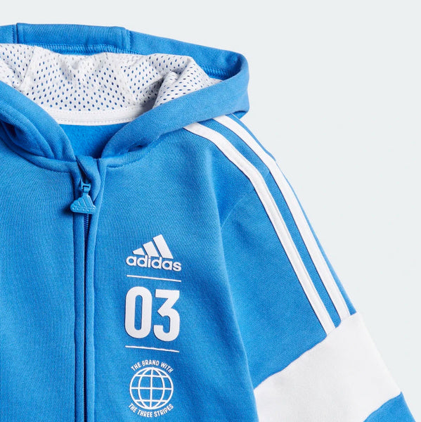 Adidas Kids Fleece Jogger Set Blue DV1276 Sportstar Pro Newcastle, 2300 NSW. Australia. 6