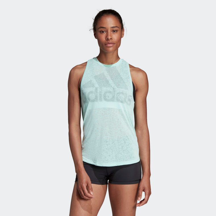 Adidas Magic Logo Tank Top Clear Mint CW3854