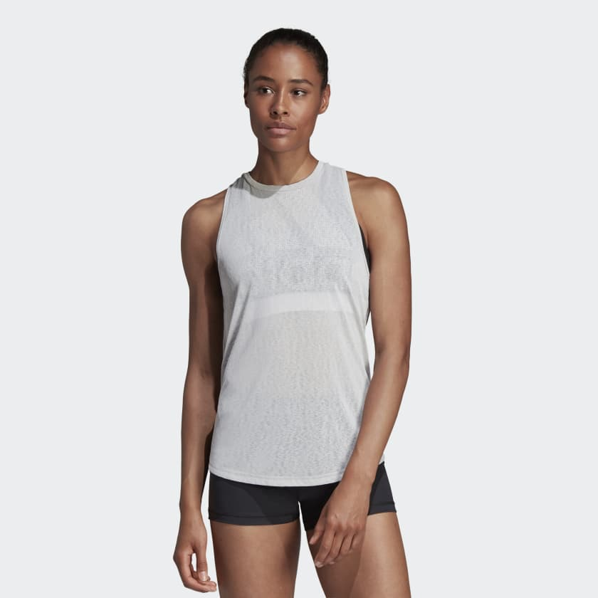 Adidas Magic Logo Tank Top Grey Two CZ7887 Sportstar Pro Newcastle, 2300 NSW. Australia. 1