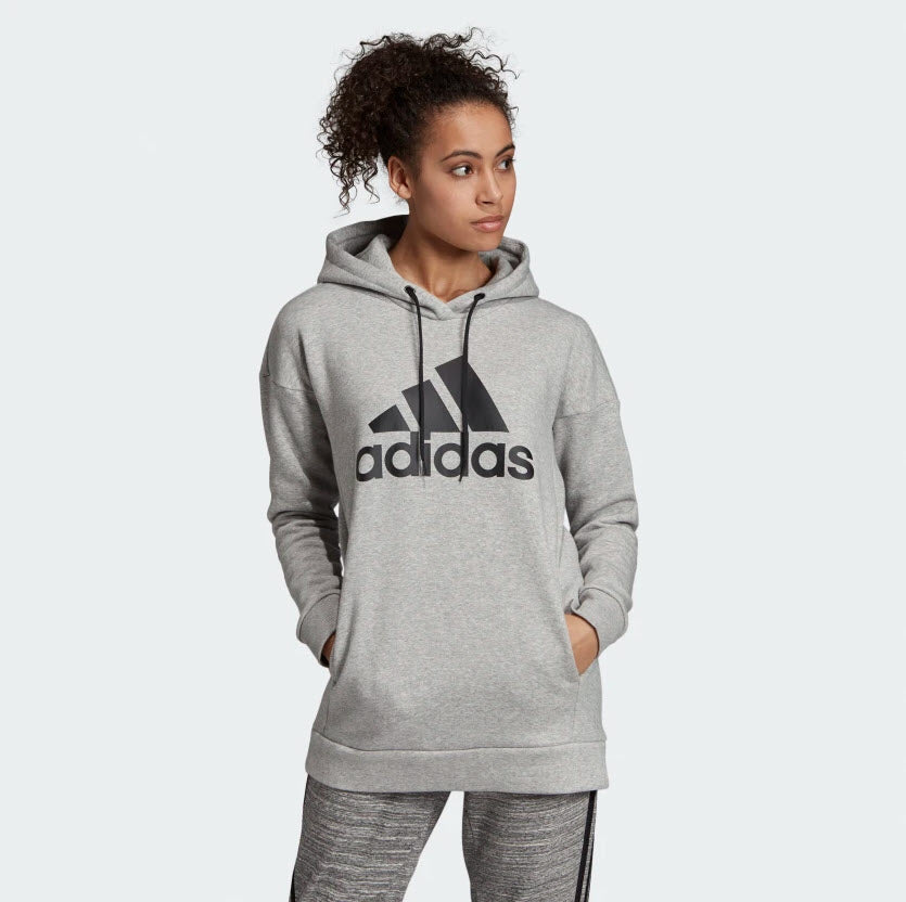 Adidas Must Haves Badge Of Sport Logo Hoodie Medium Grey Heather EB3801 Sportstar Pro Newcastle, 2300 NSW. Australia. 1