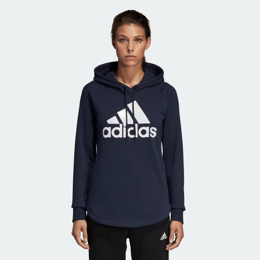 Adidas Must Haves Badge of Sport Over Head Hoodie Blue DU0015 Spotstar Pro Newcastle, 2300 NSW. Australia. 1