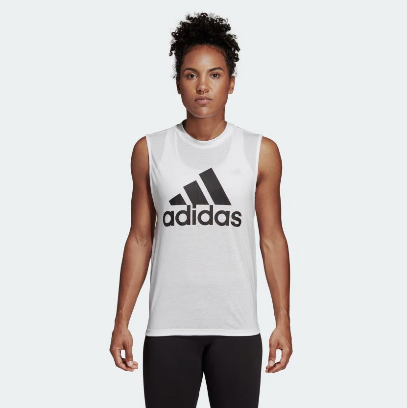 Adidas Must Haves Badge of Sport Tank Top White DP2409 Sportstar Pro Newcastle, 2300 NSW. Australia. 1