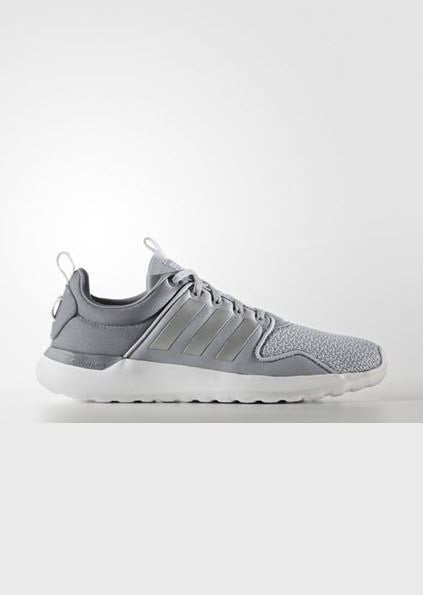 Adidas Neo Cloudfoam Lite Racer Shoes Clear Onix/Matte Silver/White AW4024