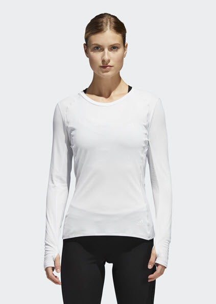 Adidas Supernova Long Sleeve Tee White CG1090