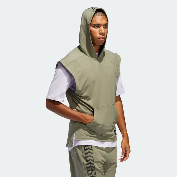 Adidas TKO Sleeveless Hooded Tee Legacy Green FJ5128 Sportstar Pro Newcastle, 2300 NSW Australia. 4