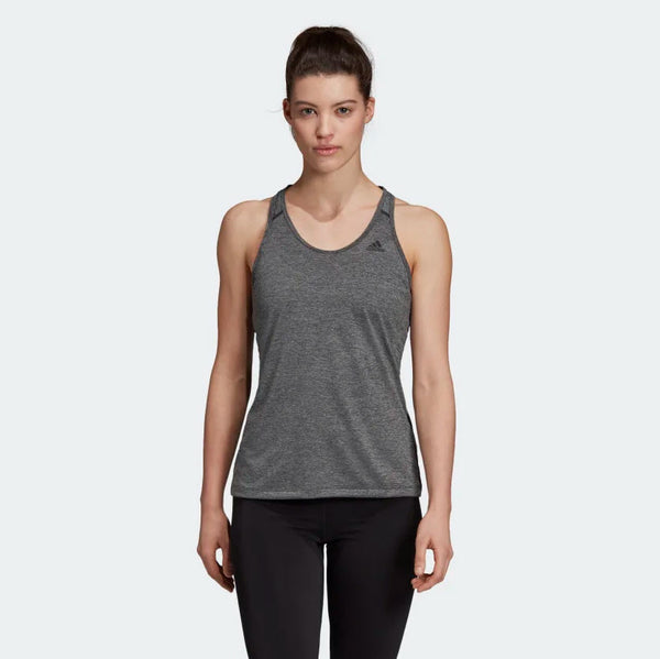Adidas Tech Prime 3-Stripes Tank Top Black Heather DU3447 Sportstar Pro Newcastle, 2300 NSW. Australia. 1