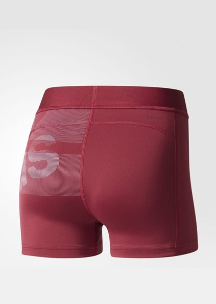 Adidas Techfit Badge of Sports Shorts - Mystery Ruby BQ9478