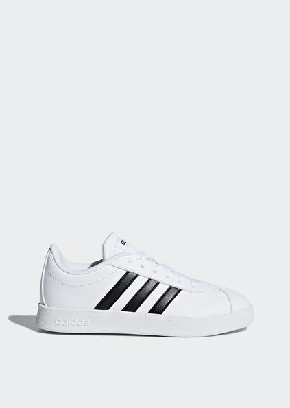 Adidas VL Court 2.0 Kids Shoes White/Black DB1831
