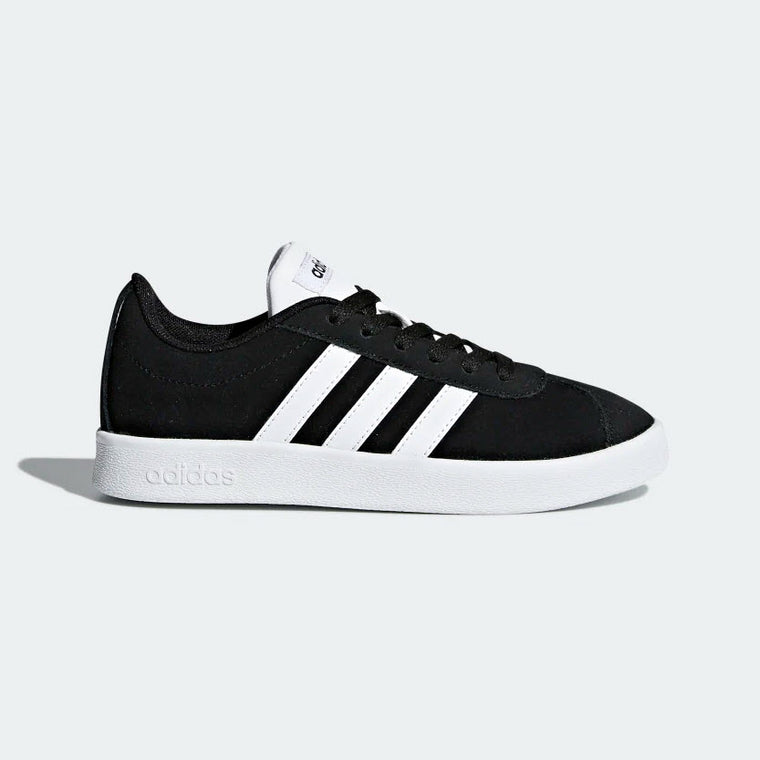 Adidas VL Court 2.0 Unisex Kid's Shoes Black/White DB1827