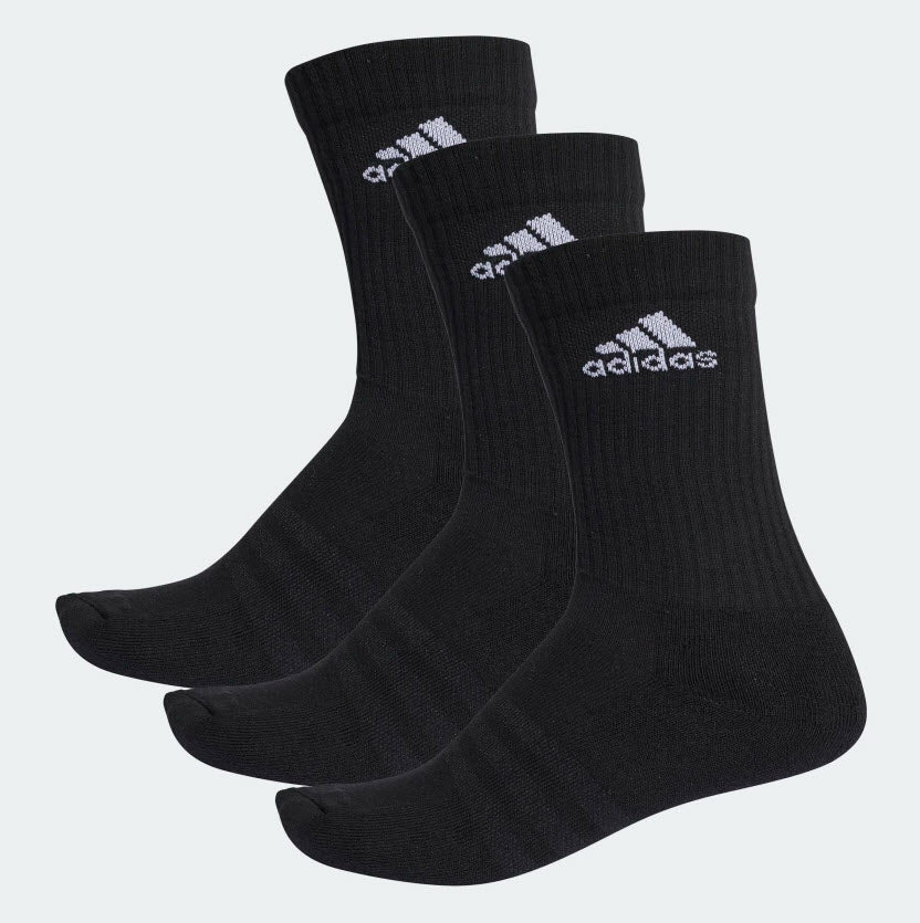 Adidas Youth 3-Stripes Performance Crew Socks 3 Pack Black AA2298 Sportstar Pro Newcastle, 2300 NSW. Australia. 1