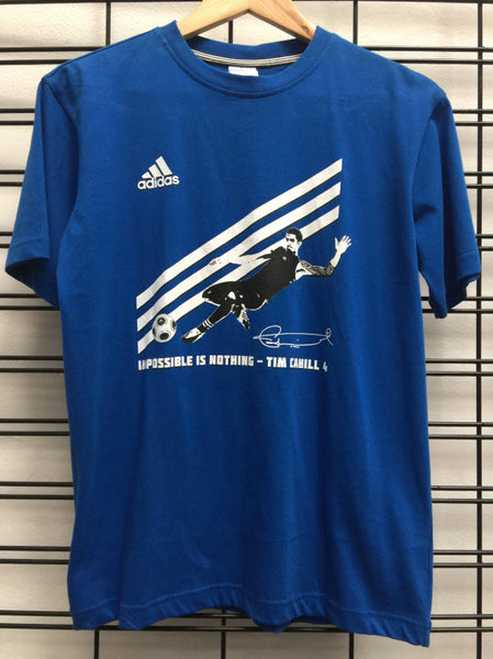 Adidas Youth Tim Cahill T-Shirt Blue Sportstar Pro Newcastle, 2300 NSW. Australia. 1