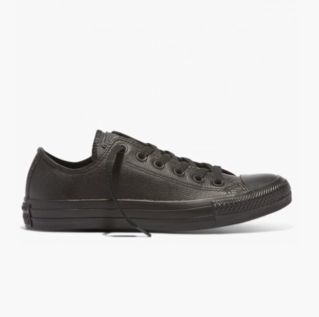 Converse Chuck Taylor All Star Classic Black Mono Leather Low Top 135253