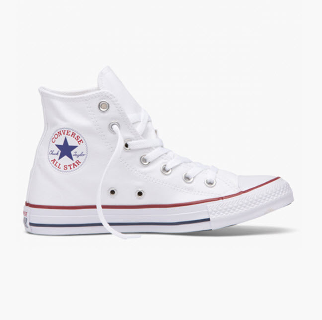 Converse Chuck Taylor All Star Classic Optical White Leather Hi Top 132169