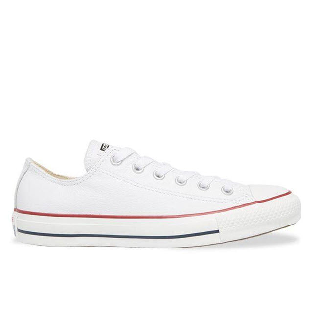 Converse Chuck Taylor All Star Classic Optical White Leather Low Top 132173