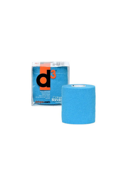 D3 Cohesive Sports Bandage - 75mm x 9.0M - Electric Blue