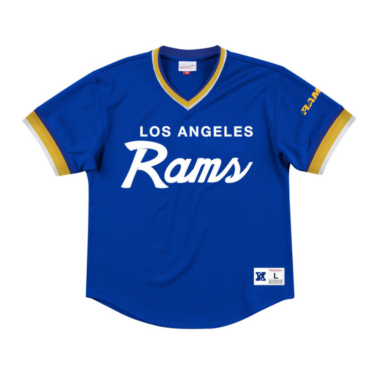 Mitchell & Ness Men's Special Script Mesh V-Neck Los Angeles Rams