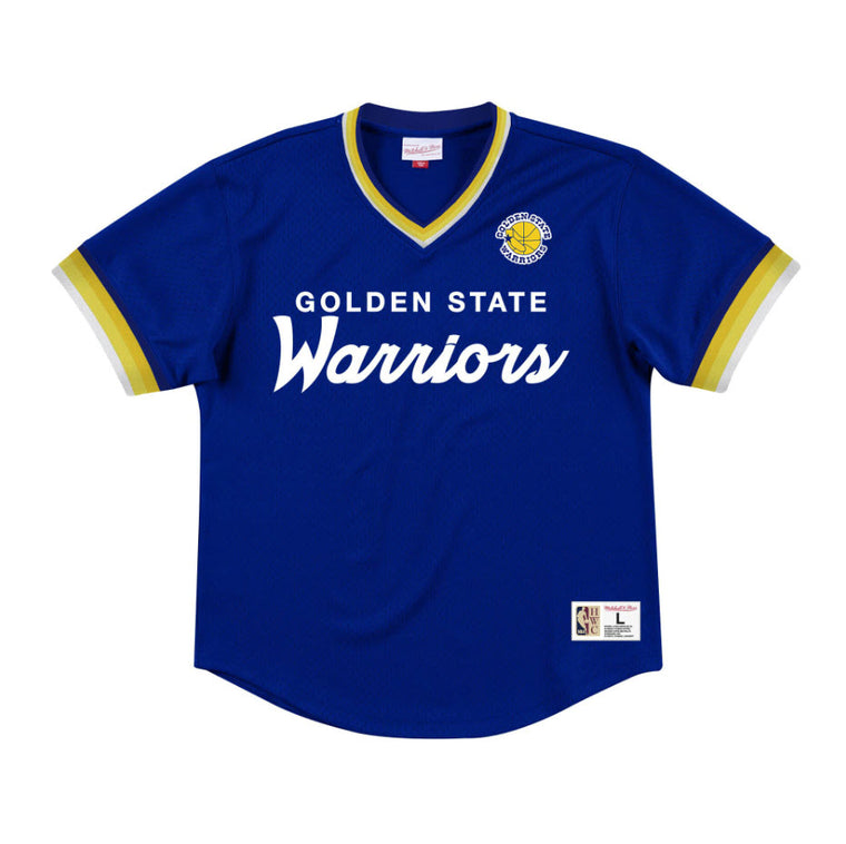 Mitchell & Ness Men's Special Script V-Neck Golden State Warriors