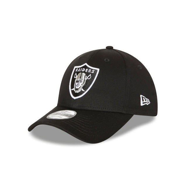 New Era Las Vegas Raiders Black 9FORTY Strapback Cap